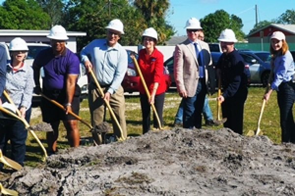 Evans Center Groundbreaking Prepares for Grocery Store in Food Desert