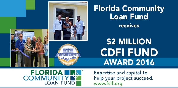 Florida Community Loan Fund Awarded $2 Million from U.S. Dept. of Treasury CDFI Fund