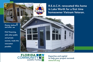 REACH veteran home, before and after renovation