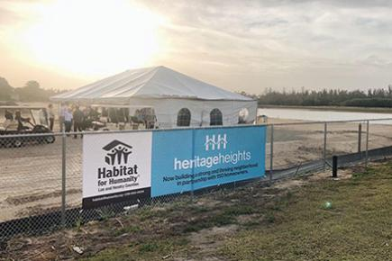 Habitat for Humanity of Lee & Hendry Counties, Heritage Heights Groundbreaking